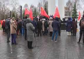 В годовщину Октябрьской революции в Нижнекамске провели акцию протеста против строительства нового завода