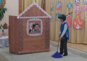В Нижнекамске дошколята поставил мюзикл, посвященный противопожарной безопасности