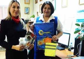 Подарки в мешок Деда Мороза НТР положили сотрудники ГИБДД, Минэкологии и дети с нарушением слуха