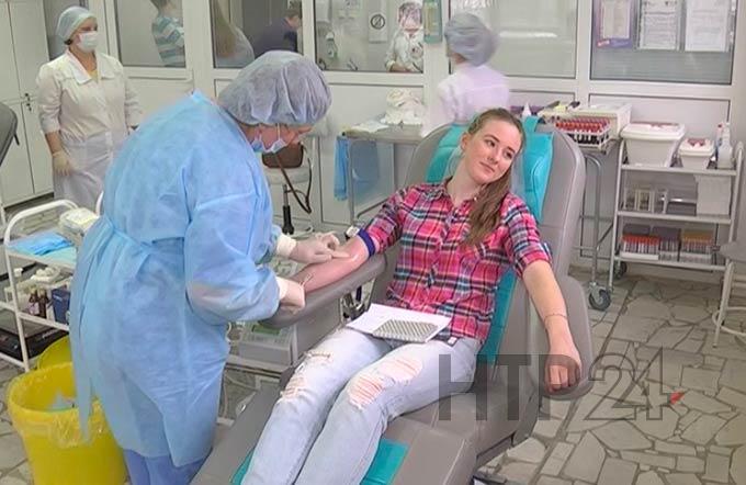 В Нижнекамске за год заготовили более 4,5 тыс литров крови