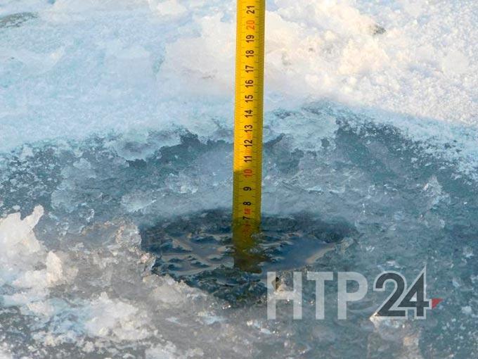 Толщина льда на Каме ниже нормы для проезда автомобилей