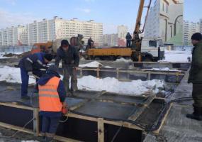 На площадке строительства новой мечети в Нижнекамске завершился очередной этап