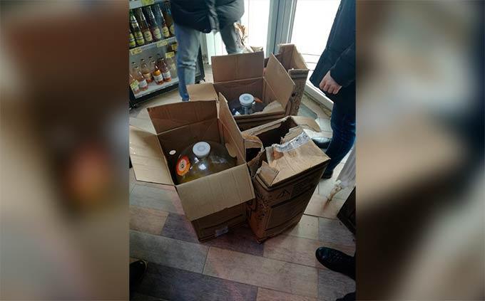 В магазине под видом сидра продавали разведенный водой спирт