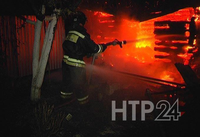 Татарстанец получил ожог лица при пожаре в садовом домике