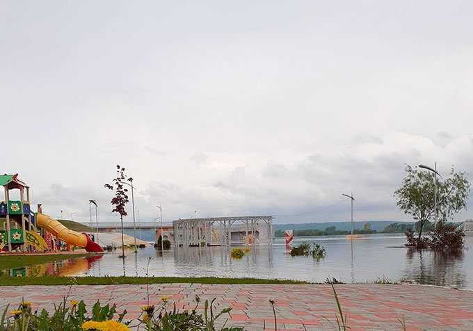 В Каме в районе Нижнекамска понизился уровень воды